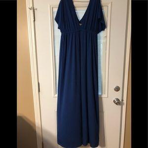 Merona deep V dress